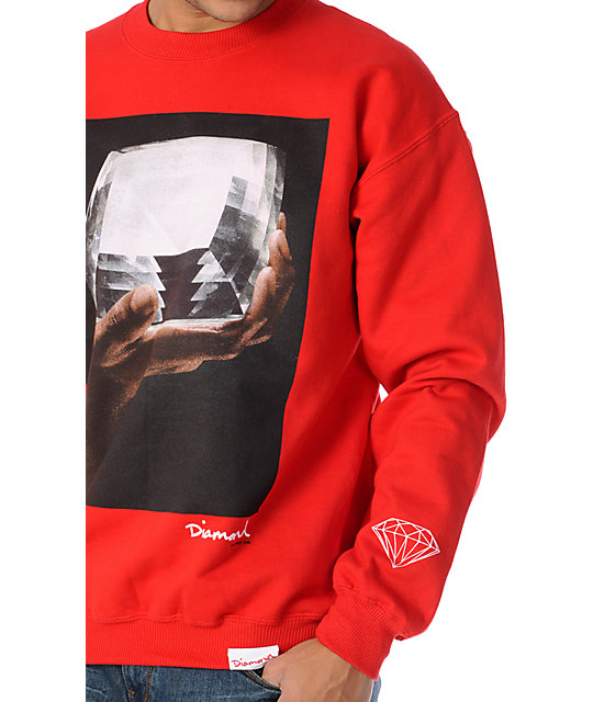 Diamond Supply Co Almighty Red Crew Neck Sweatshirt