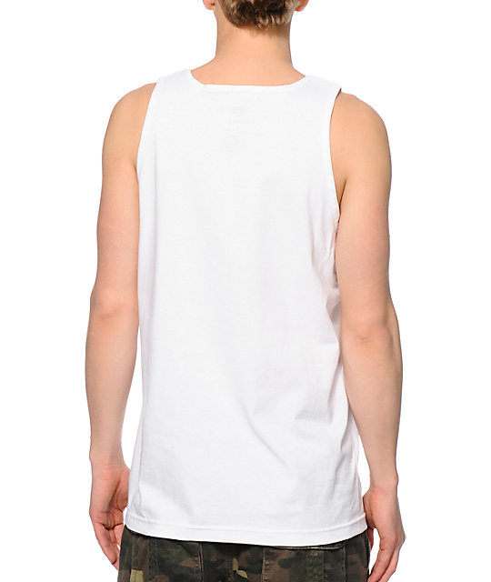 Diamond Supply Co Arabic Shining White Tank Top
