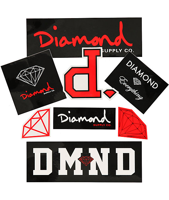 Diamond supply co assorted sticker pack