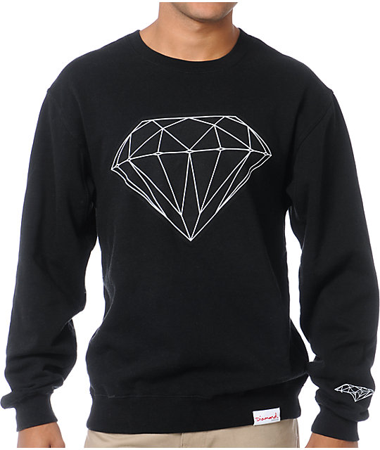 Diamond Supply Co Big Brilliant Black Crew Neck Sweatshirt