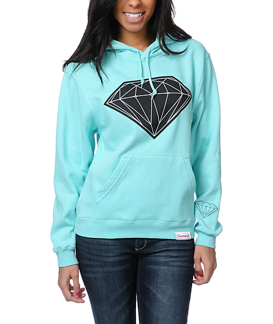 Diamond Supply Co Big Brilliant Mint Pullover Hoodie