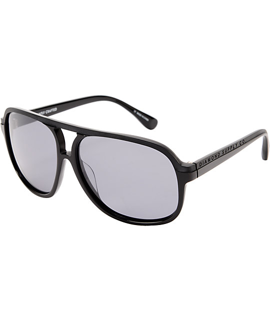 Diamond Supply Co Black Aviator Sunglasses