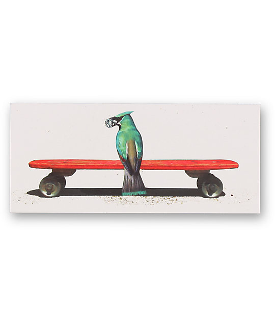 Diamond supply co blue bird vinyl sticker