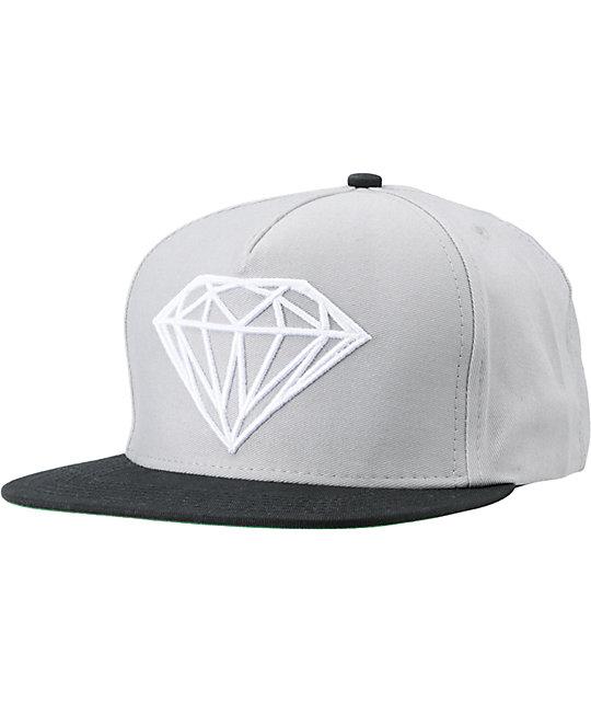 Diamond Supply Co Brilliant Black   Grey Snapback Hat  6335d19a1d7