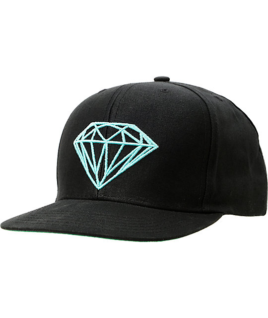 Diamond Supply Co Brilliant Black & Mint Snapback Hat