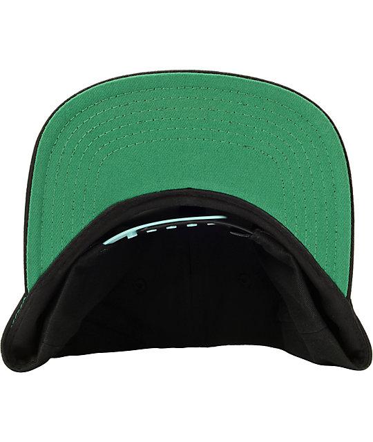 e9868884c new zealand diamond supply co brilliant mint black snapback hat ...