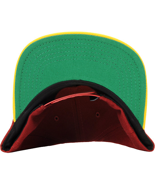Diamond Supply Co Brilliant Burgundy & Yellow Snapback Hat