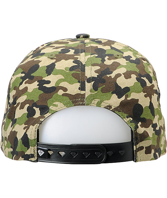 Diamond Supply Co Brilliant Camo Snapback Hat