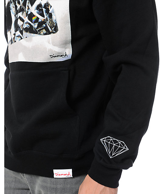 Diamond Supply Co Brilliant Glass Black Pullover Hoodie