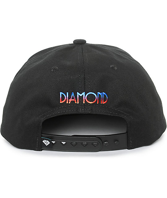 Diamond Supply Co Brilliant Gradient Tie Dye Snapback Hat
