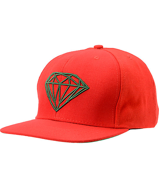 inexpensive diamond supply co brilliant red green snapback hat 34528 0ed38 022c353a8