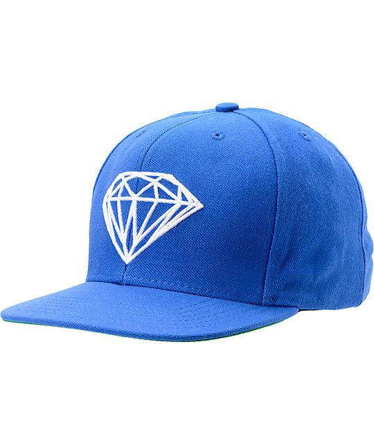 Diamond Supply Co Brilliant Royal Blue Snapback Hat  669fef6dc58