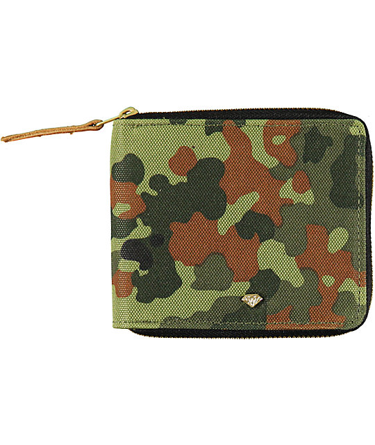 Diamond Supply Co Camo Zip Wallet