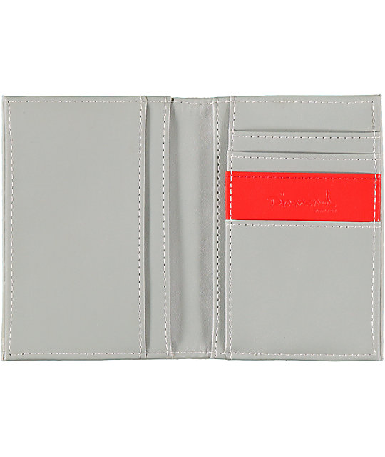Diamond Supply Co Check Grey Embossed Bifold Wallet