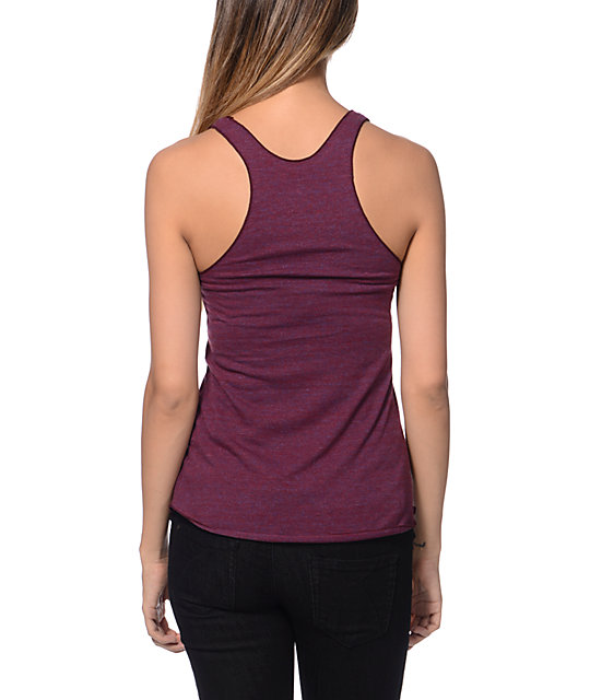 Diamond Supply Co Clarity Crimson Racer back Tank Top