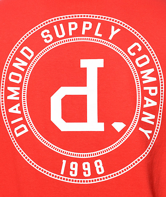 Diamond Supply Co College Seal camiseta roja