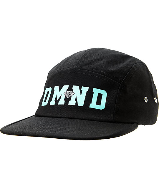 Diamond Supply Co DMND Black 5 Panel Hat