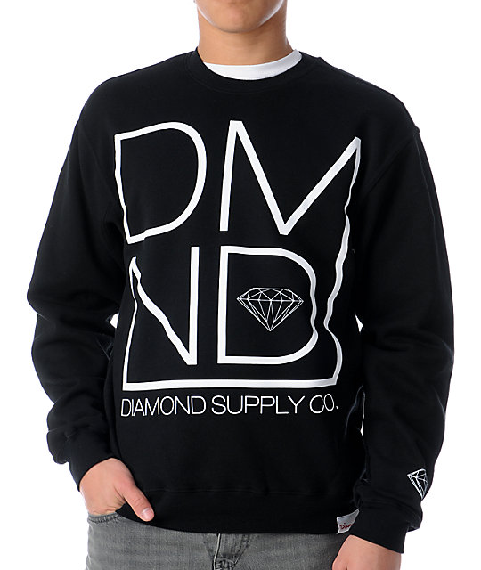 Diamond Supply Co DMND Black Crew Neck Sweatshirt
