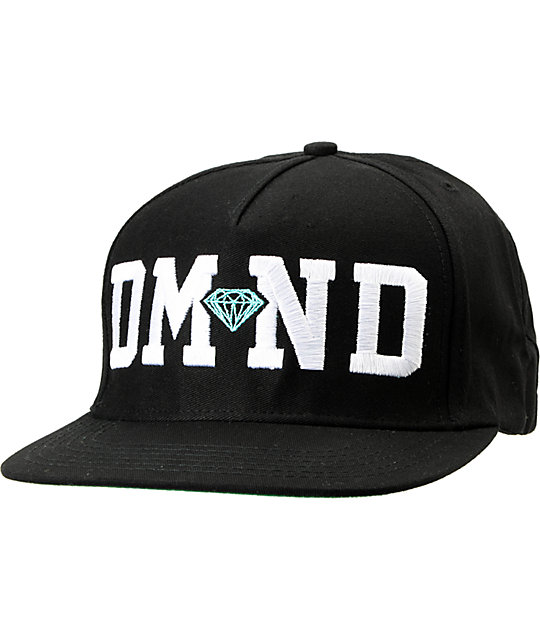 Diamond Supply Co DMND Black Snapback Hat