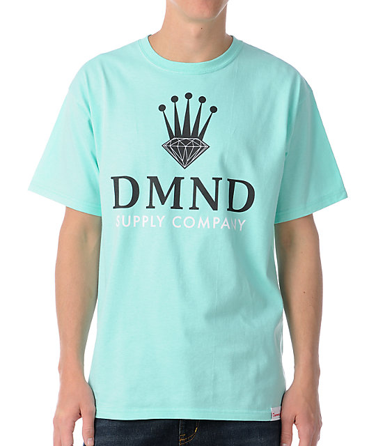 Diamond Supply Co DMND Crown Diamond Blue T-Shirt