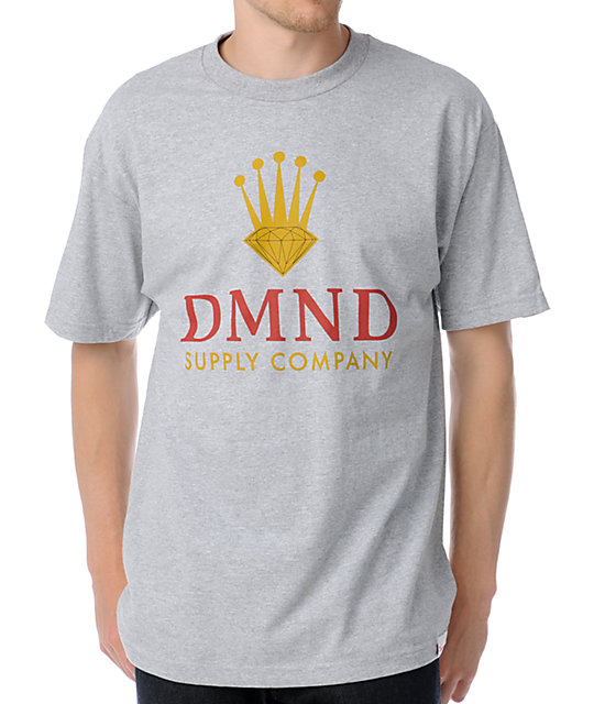 Diamond Supply Co DMND Crown Heather Grey T-Shirt