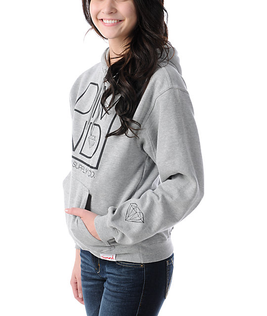 Diamond Supply Co DMND Heather Grey Pullover Hoodie