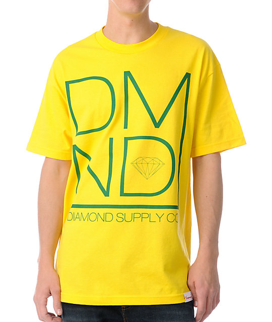 Diamond Supply Co DMND Yellow T-Shirt