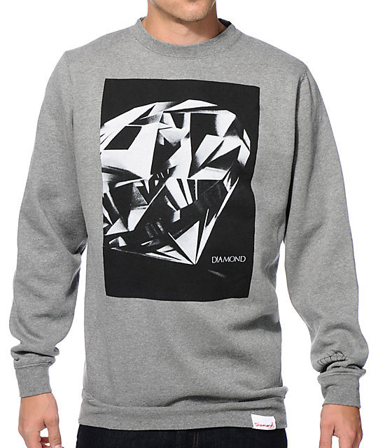 Diamond Supply Co Diamond Cut Crew Neck Sweatshirt Zumiez
