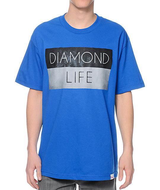 Diamond Supply Co Diamond Life Flag Royal Blue T-Shirt  9bf40f30b