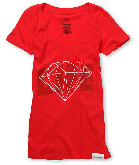 Diamond Supply Co Diamond Life Red Graphic T-Shirt