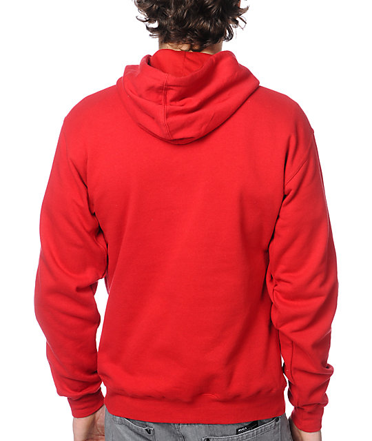 Diamond Supply Co Diamond Life Script Red Pullover Hoodie