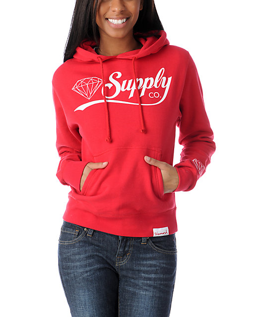 Diamond Supply Co Diamondaire Red Pullover Hoodie