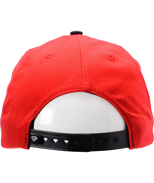 1724dc26d99 norway diamond supply co emblem red black snapback hat 948fb e353b