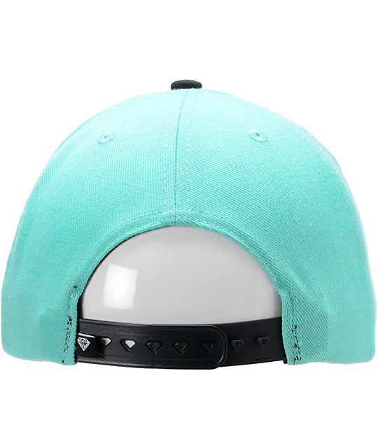 Diamond Supply Co Emblem Teal & Black Snapback Hat