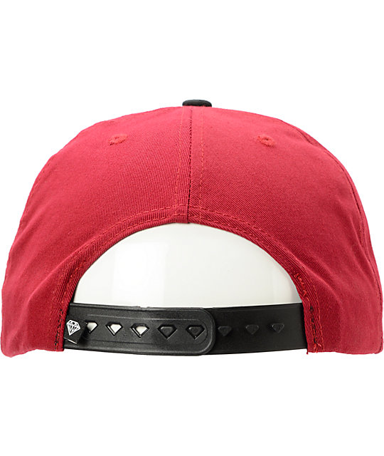 Diamond Supply Co Everything Red Snapback Hat