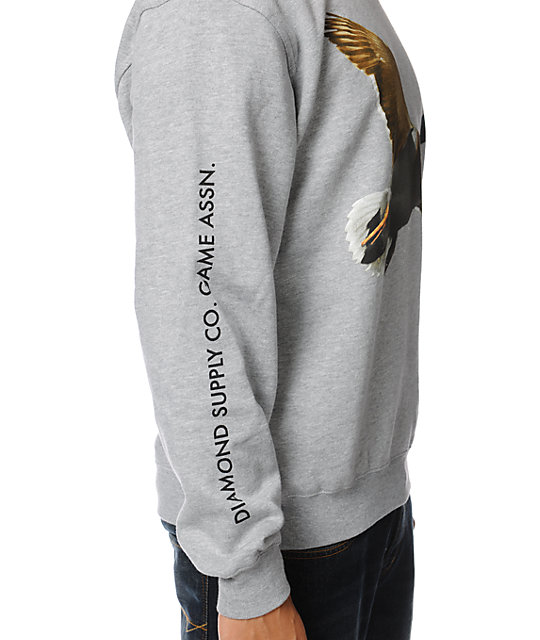Diamond Supply Co Game Association Pt. 2 Grey Crew Neck Sweatshirt