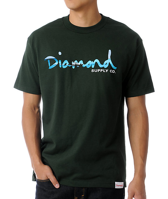 Diamond Supply Co Green OG Yacht T-Shirt