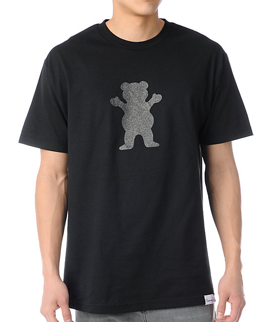 Diamond Supply Co Grizzly Griptape Bear Grip Black T-Shirt