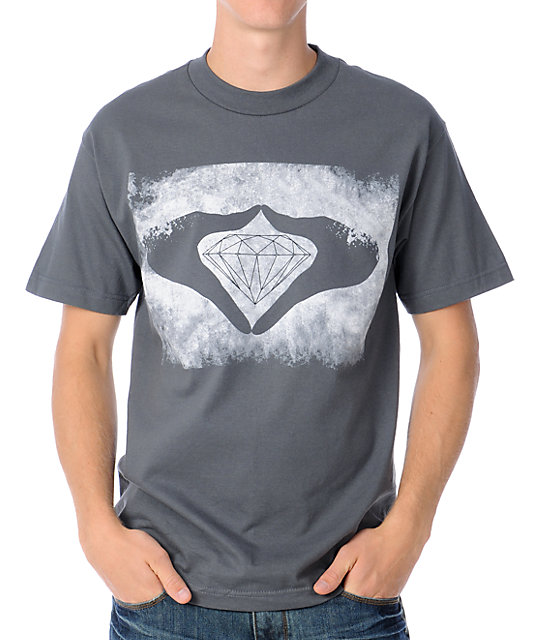 Diamond Supply Co Hands Charcoal T-Shirt