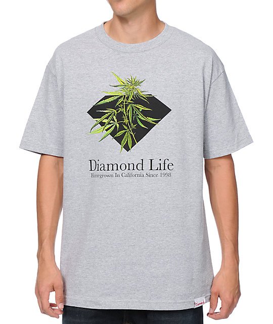 Diamond Supply Co Homegrown Heather Grey T-Shirt
