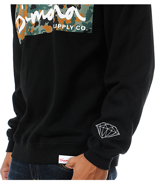 Diamond Supply Co Hunters Black Crew Neck Sweatshirt