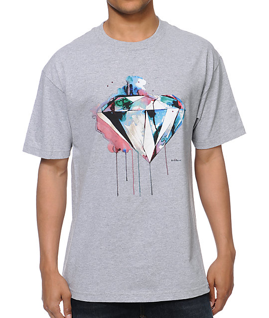Diamond Supply Co I Art You Heather Grey T-Shirt