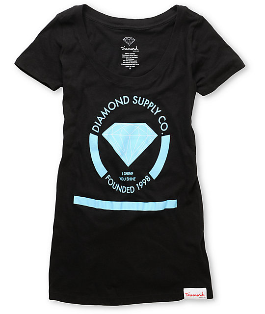 Diamond Supply Co I Shine You Shine Black T-Shirt