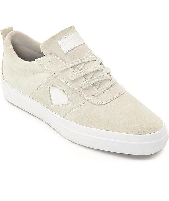 8e839fda1c Diamond Supply Co Icon White Skate Shoes