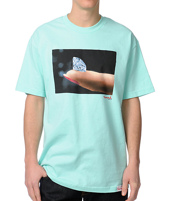 Diamond Supply Co Imprint Mint T-Shirt