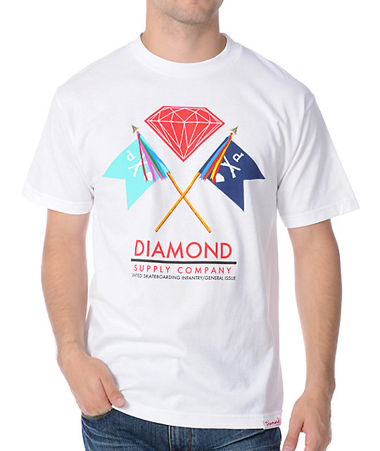Diamond Supply Co Infantry White T-Shirt