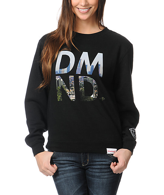 Diamond Supply Co LA DMND Black Crew Neck Sweatshirt