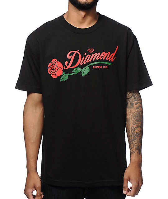 Diamond Supply Co La Rosa camiseta