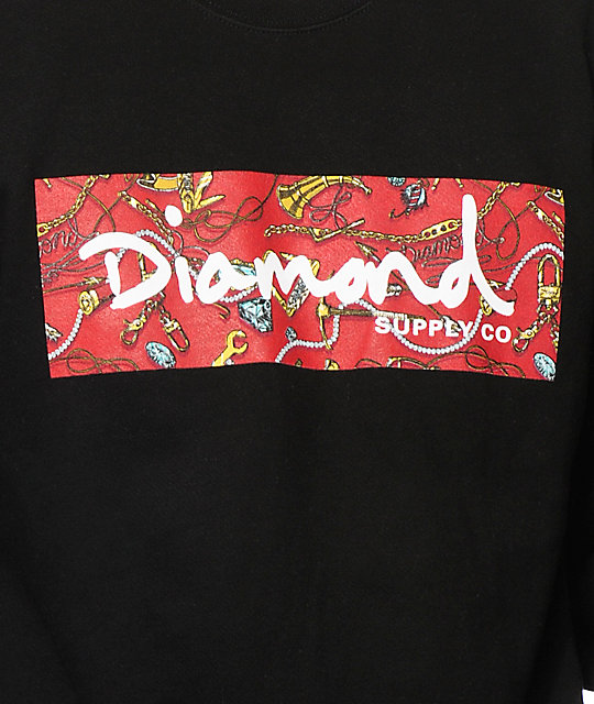 Diamond Supply Co Low Life Box Logo Crew Neck Sweatshirt