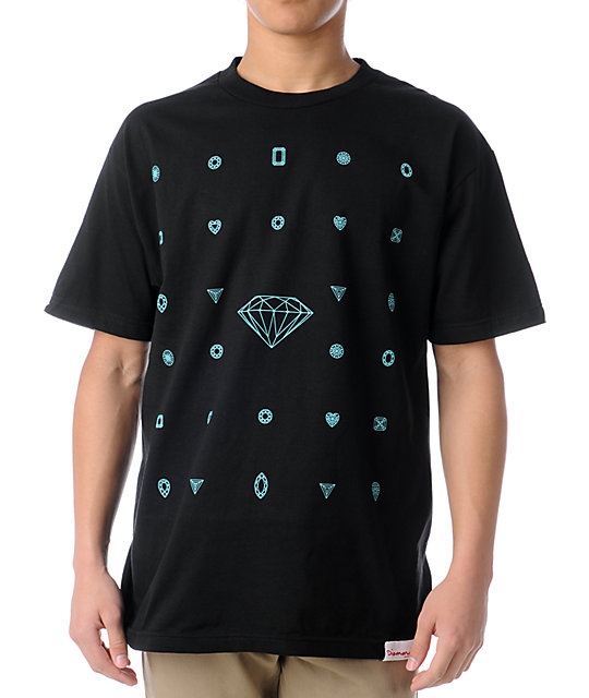 Diamond Supply Co Many Diamonds Black T-Shirt